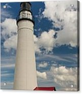 Fort Gratiot Lighthouse And Clouds Acrylic Print
