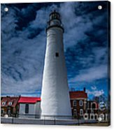 Fort Gratiot Lighthouse From The Water Side Acrylic Print