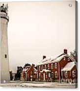 Fort Gratiot Lighthouse In Winter Acrylic Print