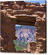 Fort Jemez Adobe Window Acrylic Print