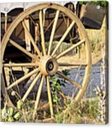 Fort Laramie Wy - Moving West On Wagon Wheels Acrylic Print by Christine Till