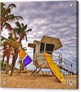 Fort Lauderdale Lifeguard Station Acrylic Print