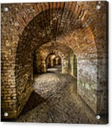 Fort Macomb Arches Vertical Acrylic Print by David Morefield