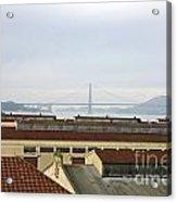Fort Mason And Golden Gate Bridge Acrylic Print