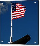 Fort Mchenry Flag And Cannon Acrylic Print