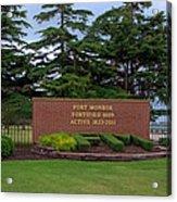 Fort Monroe Main Gate Acrylic Print