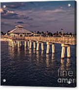 Fort Myers Beach Fishing Pier Acrylic Print