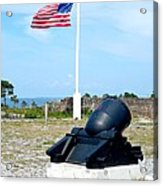 Fort Pickens Flag Acrylic Print