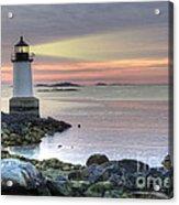 Fort Pickering Lighthouse At Sunrise Acrylic Print
