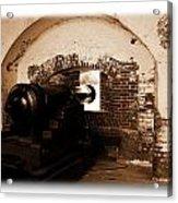 Fort Pulaski Canon Sepia Acrylic Print