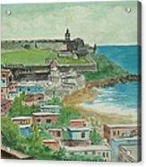 Fort San Felipe Del Morro From Fort San Cristobal Pr Acrylic Print