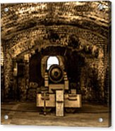 Fort Sumter Famous Cannon Acrylic Print by Optical Playground By MP Ray