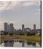 Fort Worth Skyline Partly Cloudy Acrylic Print