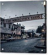 Fort Worth Stockyards Bw Acrylic Print