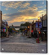 Fort Worth Stockyards Sunrise Acrylic Print