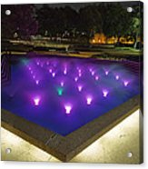 Fort Worth Water Garden Aerated Pool Acrylic Print