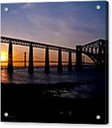 Forth Bridges Sunset Acrylic Print