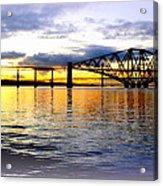 Forth Rail Bridge At Sunset Acrylic Print