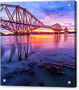 Forth Rail Bridge Stunning Sunrise Acrylic Print