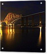 Forth Rail Bridge With Train Acrylic Print