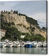 Fortress And Harbor Cassis Acrylic Print