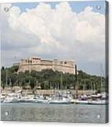 Fortress And Harbor - Cote D'azur Acrylic Print