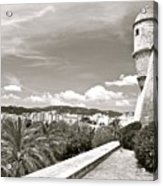 Fortress Overlooking Palma De Majorca Acrylic Print