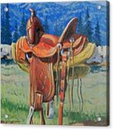Forty Dollar Saddle Acrylic Print