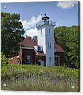 Forty Mile Point Lighthouse In Michigan Number 450 Acrylic Print