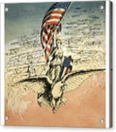 Forward America Acrylic Print by Aged Pixel