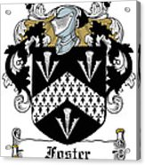 Foster Coat Of Arms Irish Acrylic Print