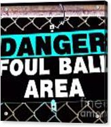 Foul Ball Area Acrylic Print