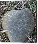 Found A Heart Of Stone Acrylic Print
