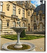 Fountain At Chateau De Chantilly Acrylic Print