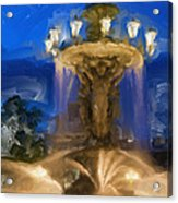 Fountain At Dusk Acrylic Print