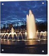 Fountain At Night World War II Memorial Washington Dc Acrylic Print