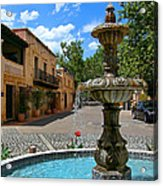 Fountain At Tlaquepaque Arts And Crafts Village Sedona Arizona Acrylic Print by Amy Cicconi