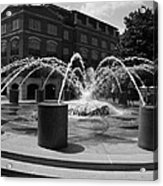 Fountain In Charleston Acrylic Print