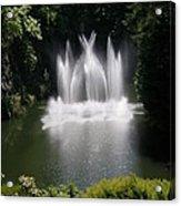 Fountain In Lake Acrylic Print
