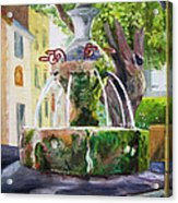 Fountain In Provence Acrylic Print