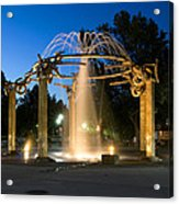 Fountain In Riverfront Park Acrylic Print