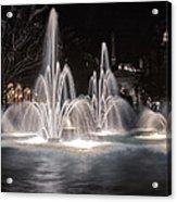 Fountains At Night Acrylic Print