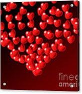 Fountain Of Love Hearts Acrylic Print