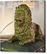 Fountain Of The Lions At Plaza Las Delicias In Puerto Rico Acrylic Print