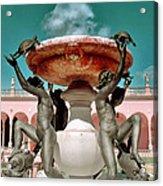 Fountain Of The Tortoises Ringling Museum Sarasota Acrylic Print