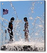 Fountain Of Youth Acrylic Print by Karen Wiles
