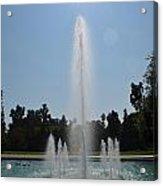 Fountain - Los Angeles County Arboretum And Botanic Garden Acrylic Print