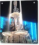 Fountain Square At Night Acrylic Print