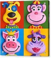 Four Animal Faces Acrylic Print
