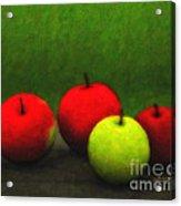 Four Apples Acrylic Print